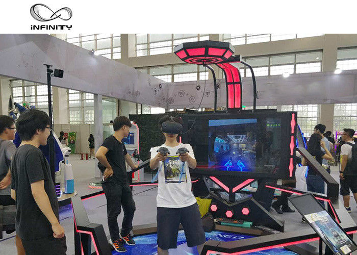 56 Inch Display VR Shooting Simulator / 9D Virtual Reality Game Machine